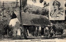 Thematiques France Martinique Lieu De Naissance De L'impératrice Joséphine L'habitation En 1900 Timbre Cachet 1909 - Martinique