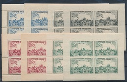 CK-163: FRANCE: Lot Avec  Expo Paris 1943 ** (mini Feuillets Detelés Et Non Dentelés) - Commemorative Labels
