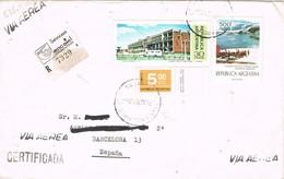 31150. Carta Aerea Certificada OLIVOS (Argentina) 1977. Matasellada Buenos Aires - Argentina