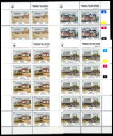 Namibia, 1990, Windhoek Building And Architecture, MNH Sheets, Michel 675-678 - Namibie (1990- ...)
