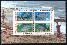Namibia, 1994, Fishing, Fishery, Fish, Animals, Fauna, MNH, Michel Block 19 - Namibie (1990- ...)