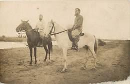 Pays Div -ref P337- Carte Photo - Photo Postcard - Souvenir Du Soudan - Cavaliers  - Carte Bon Etat  - - Soudan
