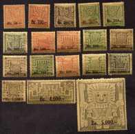Bolivia Yv# 400/417 Mint Never Hinged - Bolivia