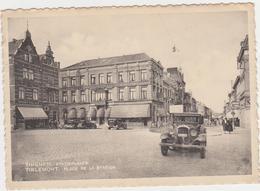 Tienen, Thienen, Tirlemont,Stationsplein Met Hôtel Restaurant Dortor, Zeer Zelden Op Postkaart!!! - Tienen