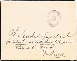 31153. Frontal Franquicia MADRID 1925. Carta Luto CORREOS - 1889-1931 Reino: Alfonso XIII