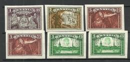 LETTLAND Latvia 1932 = 6 Marken Aus Michel 193 - 197 B MNH - Lettonie