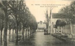 TRIEL CRUE DE LA SEINE JANVIER 1910 PLACE DES MARONNIERS - Triel Sur Seine