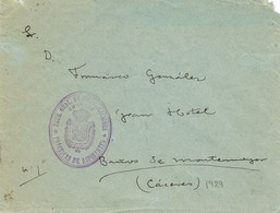 31154. Carta Franquicia MADRID 1929. Practicas Aspirantes Correos A Caceres - 1889-1931 Reino: Alfonso XIII