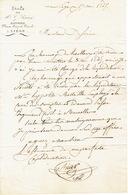 Lettre Du 17 Mai 1847 De L'étude De Maître G. BIAR Notaire Place Saint-Paul à Liège Adressée à Monsieur H. DESSAIN Liège - 1800 – 1899