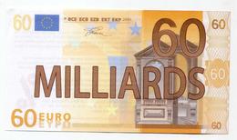 """Billet Politique De 60 Milliards D'euro """"Association Attac à Paris"""" Détournement D'une Valeur De 50 Euros - Specimen"""
