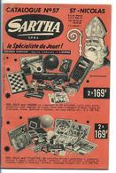 Catalogue Jouets Saint-Nicolas Années 50 - Sartha Lierre - Voiture à Pédales GIORDANI - Poupées - Soldats - Tôles - Jouets Anciens
