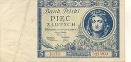 Poland  5 Zlotych 1930 - Pologne