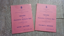 Programme Croisière Association Guillaume Budé à Bord Du Paquebot Champollion 1952 Grèce - Programmes