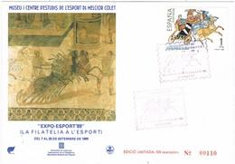 31158. Tarjeta BARCELONA 1989. Expo Esport 89. Mosaico Romano - 1931-Hoy: 2ª República - ... Juan Carlos I