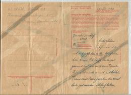 Lot 3 Lettres Prisonnier Politique Belge KL KZ Weimar Buchenwald  Concentration - 1939-45