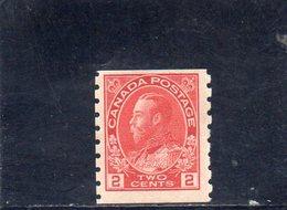 CANADA 1911-6 ** DENT 8 VERT. - 1911-1935 Reign Of George V