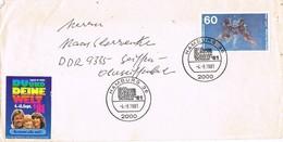 31161. Carta HAMBURG (Alemania Federal) 1981. Viñeta, Label  DU Und DEINE WELT - [7] República Federal