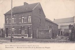 Marcinelle Maison De Derrière De La Maison Du Peuple Circulée En 1909 - Belgique