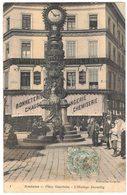 AMIENS SOMME Colorisée Jaune Et Rouge : Place Gambetta L'Horloge Dewailly Devanture Magasin PREVOST BOULOGNE Bonneterie - Amiens