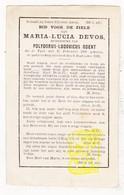 DP Maria L. Devos ° Ieper 1869 † 1891 X Polydoor L. Odent - Images Religieuses