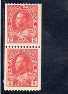 CANADA 1911-6 ** DENT 12 HORIZ. 2 SCAN - 1911-1935 Reign Of George V