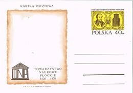 31162. Entero Postal POLSKA (Polonoa) 1970. T.N.P.  Asociacion Ciencias De PLOCK - Enteros Postales