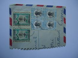 SUDAN   COVER HALF 1962  MALARIA  WITH POSTMARK POSTED  GREECE ATHENS - Soudan (1954-...)