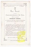 DP Pauline J. De Vos Devos ° 1816 † Brugge 1873 X François Jooris - Images Religieuses