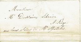 Précursor Brief Van 20/3/1847 Verzonden Door Koerier Van LEUVEN Naar LIEGE - Getekend ICKX & GEETS - 1830-1849 (Belgique Indépendante)