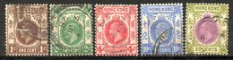 GRANDE BRETAGNE - HONG KONG - (Colonie Britannique) - 1912-21 - N° 99 à 106 - (Lot 5 Valeurs Différentes - (George V) - Hong Kong (...-1997)