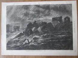 Gravure  1872 La Catastrophe Du Pont De La Brague, Près D'Antibes - Antibes