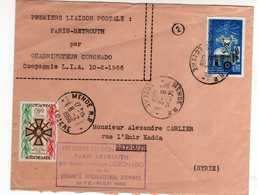Première Liaison Postale Paris Beyrouth Par Quadrimoteur Coronado. Tad Mende RP Lozère 8 2 66 - Marcophilie (Lettres)
