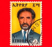 ETIOPIA - Usato - 1973 - Imperatore Haile Selassie - 5 - Etiopia