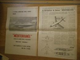 Marcel Dassault Bi-réacteurs Méditerrannée Avion De Liaison - Publicité D'époque : 1958 - Publicités