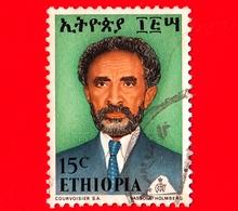 ETIOPIA - Usato - 1973 - Imperatore Haile Selassie - 15 - Etiopia