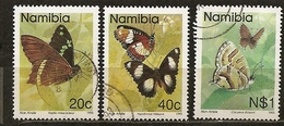Namibia 1993 Papillons Butterflies Obl - Namibie (1990- ...)