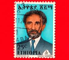 ETIOPIA - Usato - 1973 - Imperatore Haile Selassie - 25 - Etiopia
