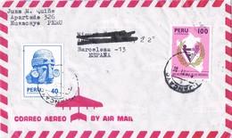 31166. Carta Aerea HUANCAYO (Peru) 1971 To Spain - Perú
