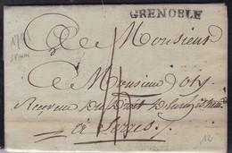 France, Isere - Grenoble (38 Mm) Sur LAC De 1791 , Lenain N 10 - Indice 8 - Marcofilie (Brieven)