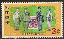 RYU KYU - 20e Anniversaire Du Timbre (facteurs) - Ryukyu Islands