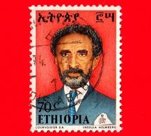 ETIOPIA - Usato - 1973 - Imperatore Haile Selassie - 70 - Etiopia