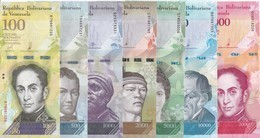 SERIE COMPLETA DE 7 BILLETES DE VENEZUELA 500-1000-2000-5000-10000-20000 Y 100000 SIN CIRCULAR-UNCIRCULATED - Venezuela
