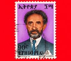 ETIOPIA - Usato - 1973 - Imperatore Haile Selassie - 90 - Etiopia