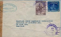 1943 , EL SALVADOR , SOBRE CIRCULADO , SAN SALVADOR - NUEVA YORK . - El Salvador