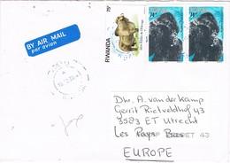 31168. Carta Aerea KIGALI (Rwanda) 2004. Gorila, Gorille Stamp - Airpost