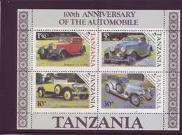Tanzania 1985 - Auto D'epoca, BF MNH** Integro - Autos