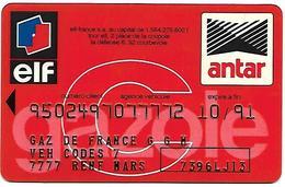 @+ Carte De Service Automobile : ELF / ANTAR (10/91) - Rouge - Frankrijk