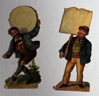 2 Image Découpis Personnage Costume Bavarois ? Ouvrier ? - Découpis