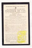 DP Frederik De Vos Devos / Hudders ° Oedelem 1822 † 1895 X Joanna Ergo - Images Religieuses