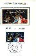 Carte Maximum Charles De Gaulle 1940 - 1970 - Cartes-Maximum